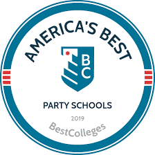 Academics And Partying Chart Best Party Schools In America For 2019 Bestcolleges Com