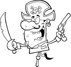 Piraat Met Een Zwaard En Pistool Balanceert Op Houten Been