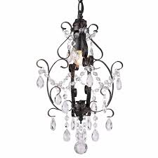 Modern Farmhouse Bedroom Light Fixtures Lighting Mini Chandelier Shades Crystal For Closet Black