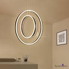 <b>Contemporary</b> Large Halo <b>LED Chandelier</b> 125W Brushed ...