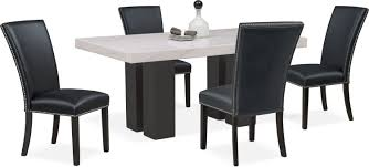 Artemis Dining Table And 4 Upholstered Side Chairs Value City