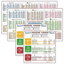 Pressure Cooker Cooking Chart Instant Pot Accessories Cheat Sheet Magnets Set Electric Pressure Cooker Cook Times Quick Reference Guide Compatible With Instapot Magnetic Cook