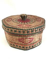woven basket with lid. Colorful Woven Basket With Lid At The Mart Collective In Venice, CA
