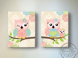 kids wall art cute owl wall decor