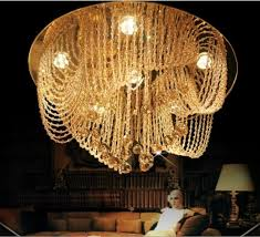 new flush mount home crystal chandelier ceiling room lighting fixtures modern res led lamp iron chandelier wine glass chandelier from daisy8814
