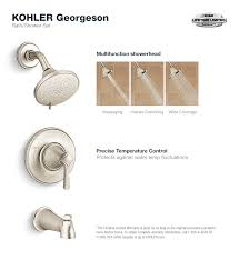 georgeson tub and shower faucet in vibrant brushed nickel