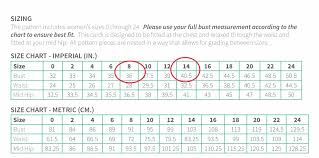 Bra Grading Charts Adjusting For A Larger Cup Size Straight Stitch Designs