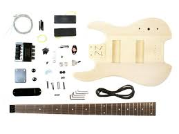 unfinished headless electric bass guitar kit diy project new make your own