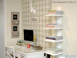 home office diy. Home Office Diy. Love The Houndstooth Stencil From Cutting Edge Stencils Used In This Gorgeous Diy C