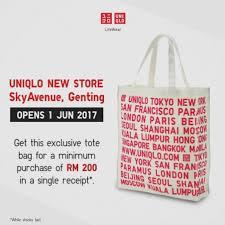uniqlo skyavenue opening promotion loopme msia uniqlo gift