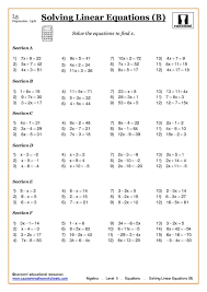 year 8 maths algebra worksheets lovely equations and expressions 73219