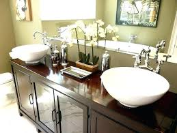 Raised Sink Bathroom Bowl Sinks For Luxury Bedroom  Narrow Vessel Bowls On Top Of Vanity C31