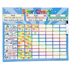 Roscoe Learning Responsibility Star Chart Customize For 1 3 Kids Magnetic Chore Reward System