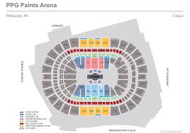 Pittsburgh Paints Arena Seating Chart Cirque Du Soleil Corteo Ppg Paints Arena