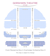 Gershwin Theater Seating Chart With Seat Numbers Wicked On Broadway Tickets Newyork Co Uk