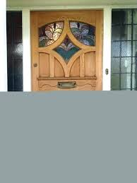 s stained glass french doors antique