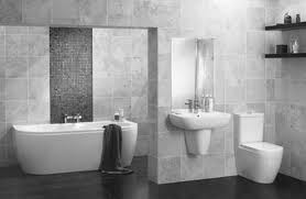 spacious all white bathroom. Gray Bathroom Tile Ideas Spacious All White