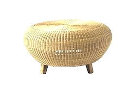 round wicker coffee table rattan glass top outdoor