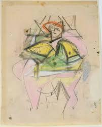 willem de kooning woman c 1952 pastel graphite on paper