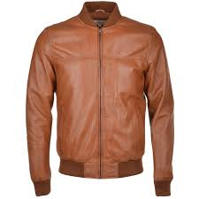 leather er jacket tan danny