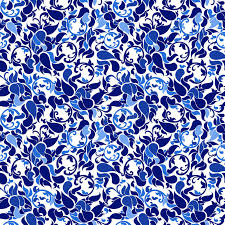 Blue China Pattern New Chinese Traditional Floral Texture Blue And White Seamless Patt