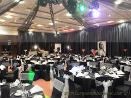 chair covers and white sashes for the finishing touches the second room was also dd in black to match the first where the client supplied
