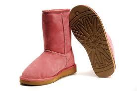 ... UGG Women Classic Short Boots 5825 Dark Pink ...