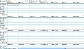 Meal Planner Template Online Printable Plan Calendar Pdf Excel
