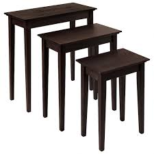 nesting tables. Finish: Espresso Nesting Tables