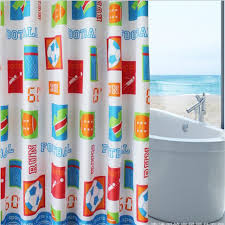 european style cartoon shower curtains high quality soccer kid children s room curtains home appliances hotel dedicated