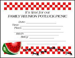 Printable Family Reunion Invitations Family Reunion Invitations Tips Samples Templates