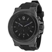 michael kors men s watches shop the best deals for 2017 michael kors men s mk8152 black silicone strap watch