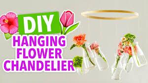 diy flower chandelier handmade