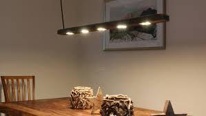 Designer Esstischlampe Aus Treibholz Mit Led Beleuchtung