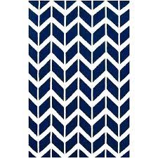 navy chevron rug 5x7