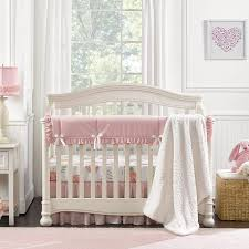 pink peony crib bedding set