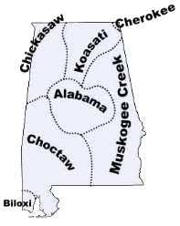 Creek And Cherokee Venn Diagram Alabama Indian Tribes And Languages