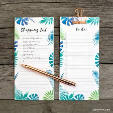 Shopping List And To-Do List Tropical Notepads - Lia Griffith