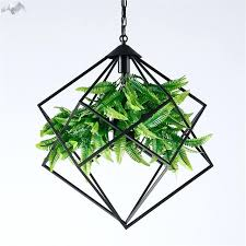 green pendant lights modern village iron pendant lights green plant hanging lamp restaurant bar cafe living