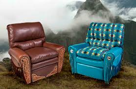 western southwestern style leather recliners
