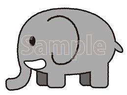 ゾウのイラストフリー素材 無料イラストかわいいフリー素材