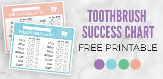 Free Printable Tooth Brushing Chart Toddler Toothbrushing Success Chart Printable Applecart Lane