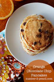 orange chocolate chip pancakes