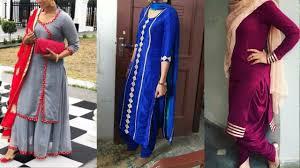 Punjabi Suit Stitching Designs Punjabi Suits With Laces Design Lace Design Idea On Salwar Suit 2019