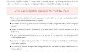Teaching Objective For Resume | Resume Cv Cover Letter pertaining to Career  Objective For Teacher Resume