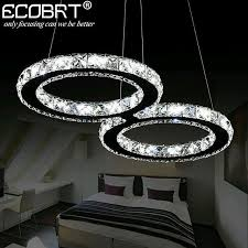 pendant lighting fixture. Ecobrt Led Crystal Pendant Lights Lighting Fixture