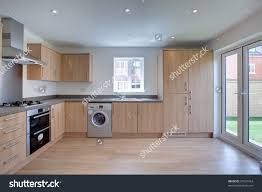 Fitted Kitchen New Fitted Kitchen Built Appliances Stock Photo 57637954