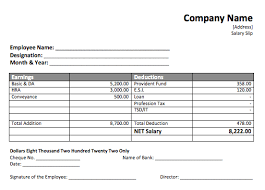 Payroll Receipt Template