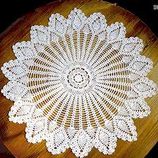 handmade crochet cotton lace table sofa doily round pineapple flower table cloth doilies cover for furniture