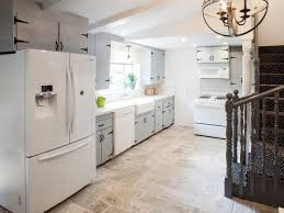 Rustic Luxe Kitchen With Stone Tile Floor Hgtv